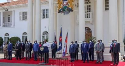 GOVERNORS' COURTESY CALL TO H.E THE PRESIDENT UHURU KENYATTA